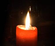 Неправильная красная свеча